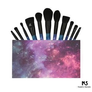 12 Pieces Galaxy Stars Makeup Brush Set