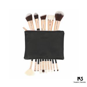 15 Pieces Rose Gold Makeup Brushes Set
