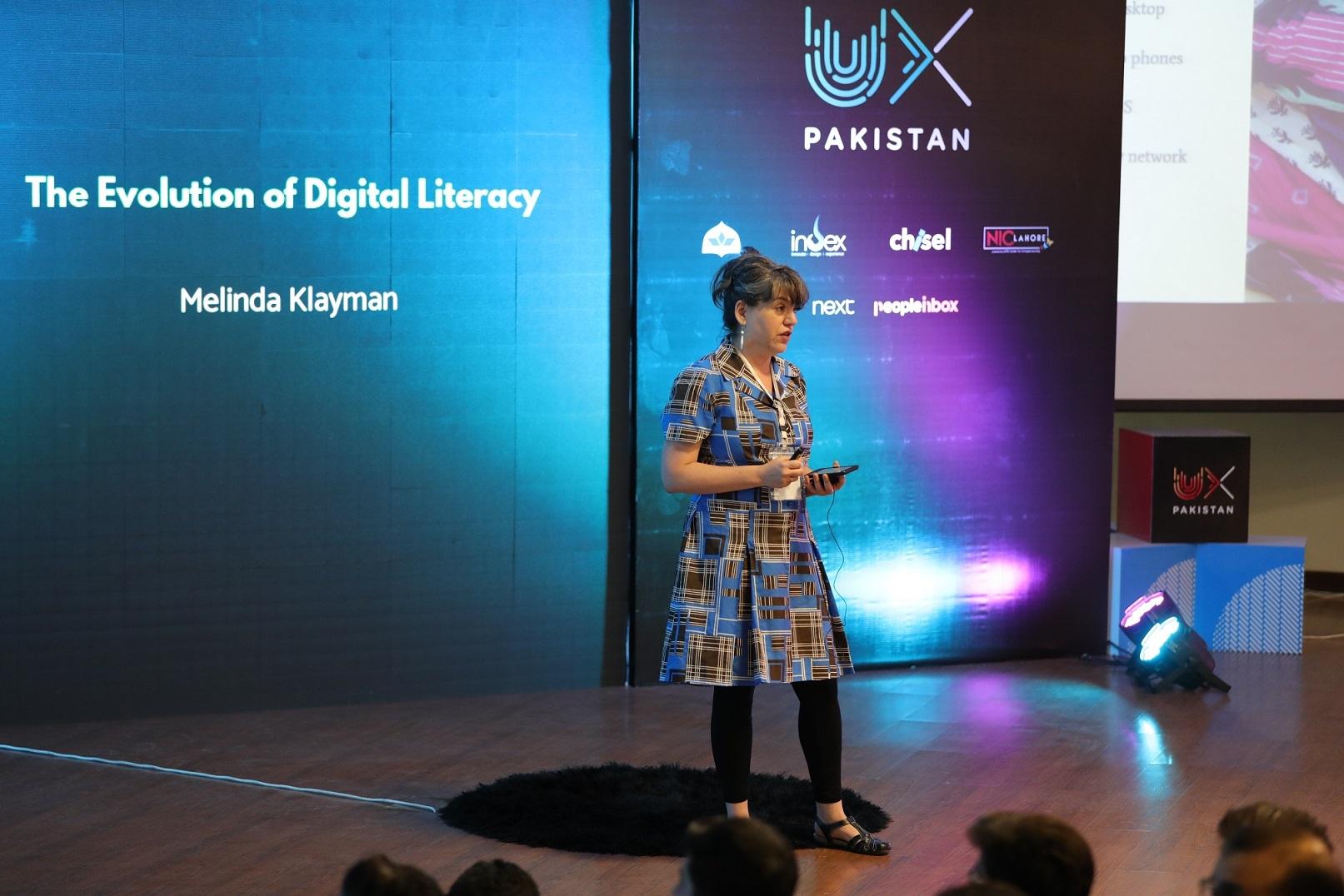 Melinda Klayman on Evolution of digital literacy at UX Pakistan