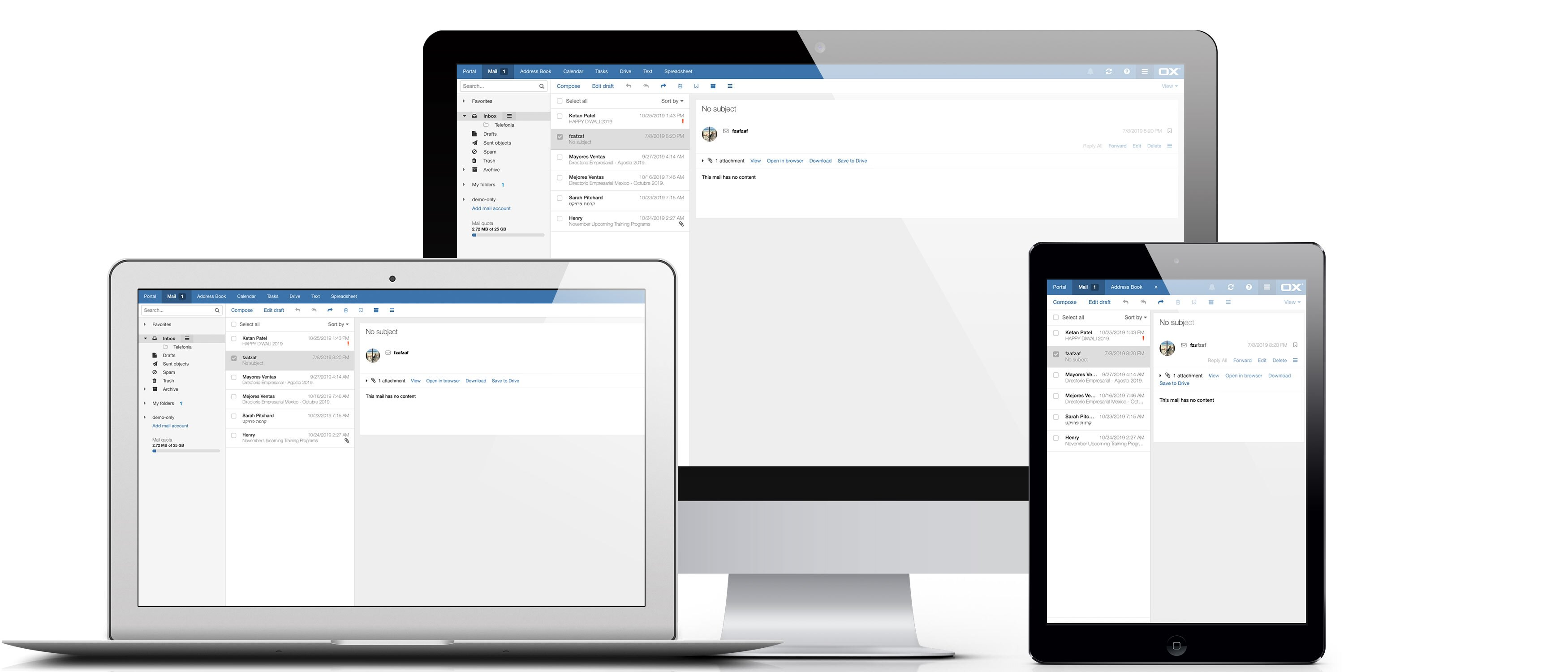 access email on all devices