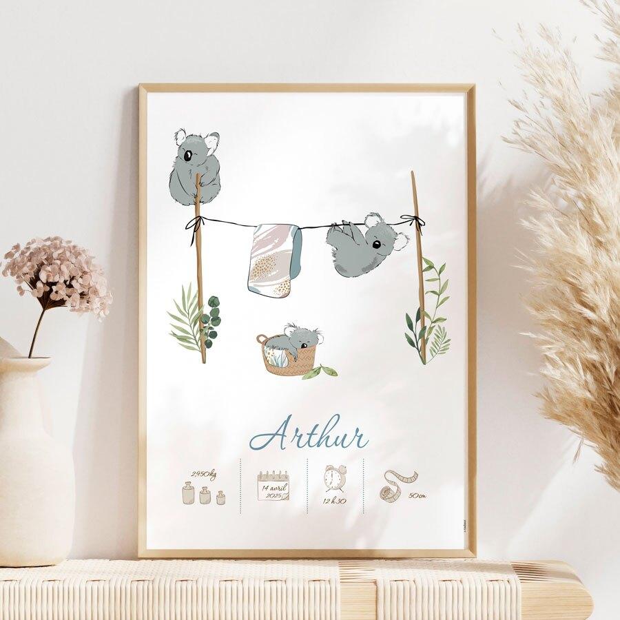 affiche-chambre-bebe-famille-koalas-TA05909-2000003-09-1