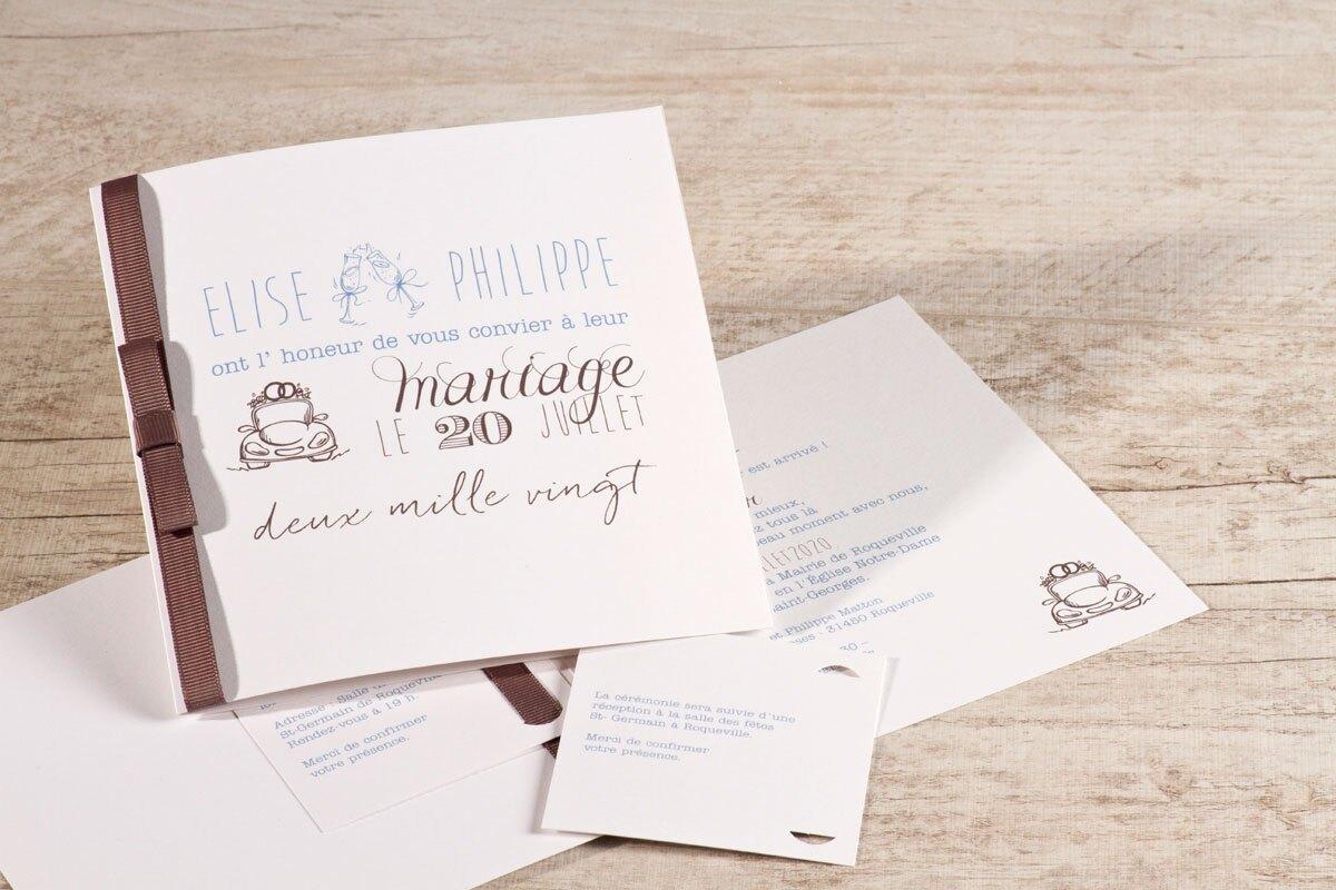 faire-part-mariage-blanc-et-marron-a-ruban-buromac-106081-TA106-081-09-1