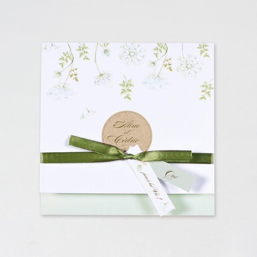 faire-part-mariage-fleurs-printanieres-et-ruban-vert-buromac-108008-TA108-008-09-1