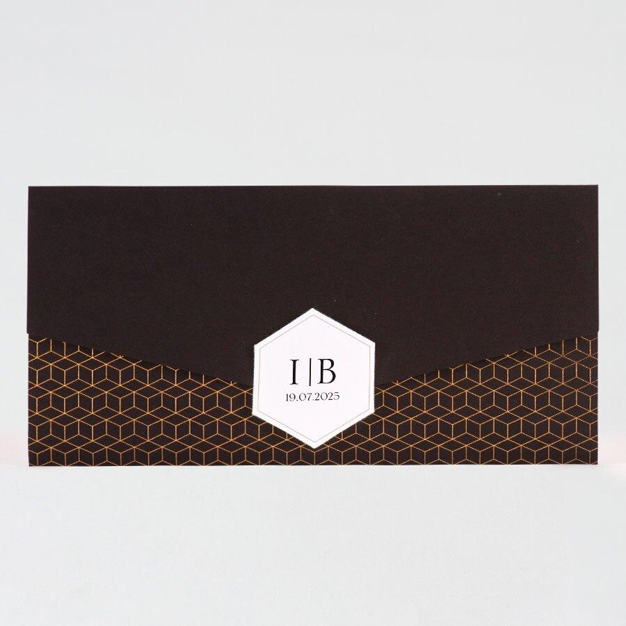 pochette-trouwkaart-zwart-met-trendy-gouden-motief-buromac-108066-TA108-066-15-1