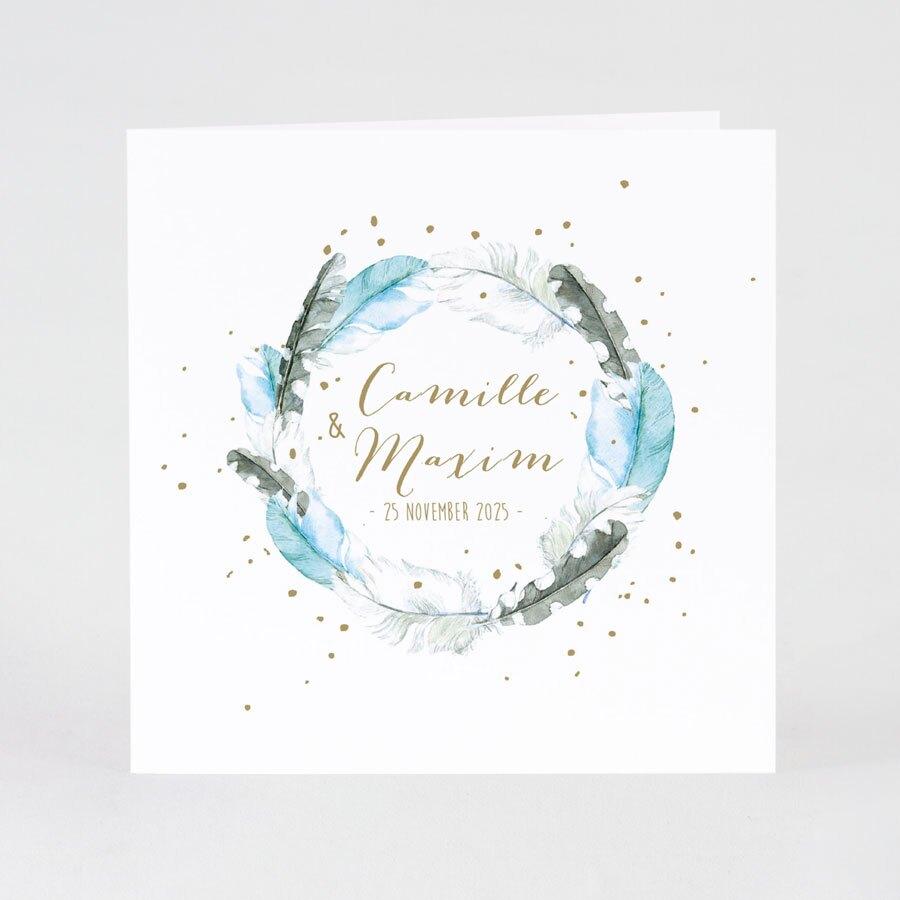 trouwkaart-met-verenkrans-en-gouden-confetti-buromac-108907-TA108-097-15-1