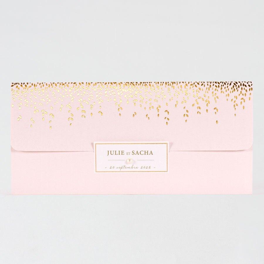 faire-part-mariage-pochette-rose-et-laurier-dore-buromac-108069-TA118-069-09-1
