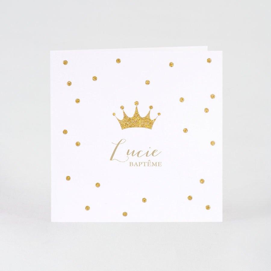 faire-part-bapteme-couronne-et-paillettes-dorees-buromac-507113-TA507-113-09-1