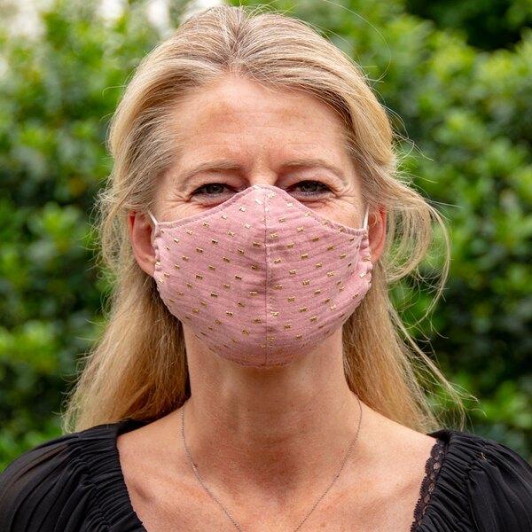 rosafarbene-nase-mund-maske-mit-goldenen-punkten-fuer-erwachsene-TA990-021-07-1